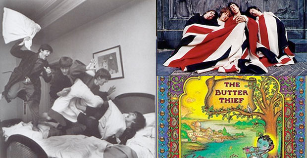 Image of the Beatles by Harry Benson.  The Butter Thief by Kim Waters and Chris Murray